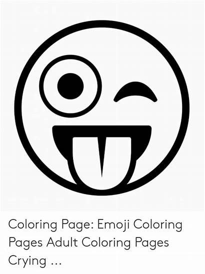 Emoji Coloring Pages Crying Adult Meme Idea
