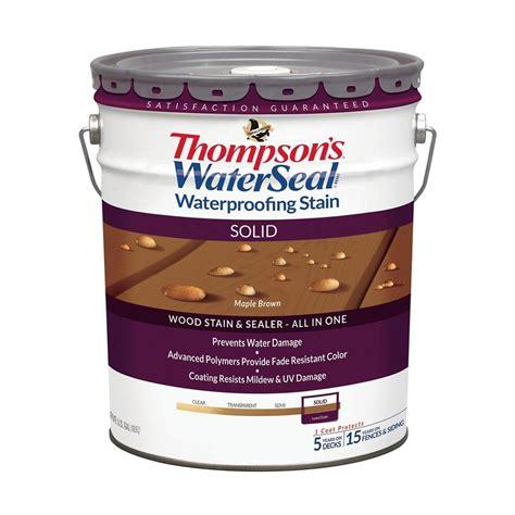 thompsons waterseal  gal solid maple brown