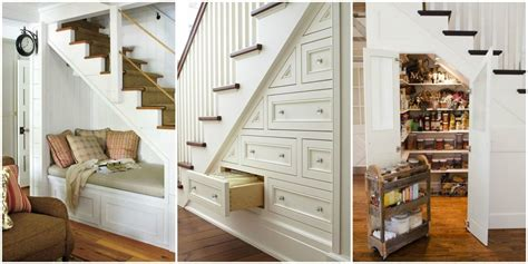 storage idea for small bathroom some items to store in stair storage place