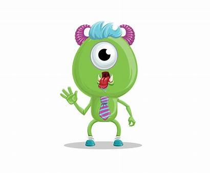 Funny Monster Monsters Character Vector Characters Ai
