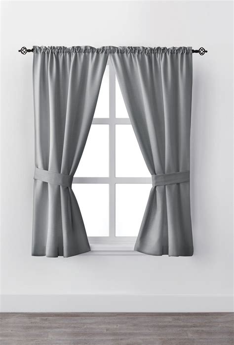 Window Curtains by Mainstays 63 Quot Rod Pocket Window Curtain Drapery