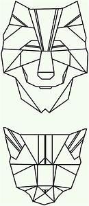 polygon tattoo triangle geometrical wolf cat | Graphic ...