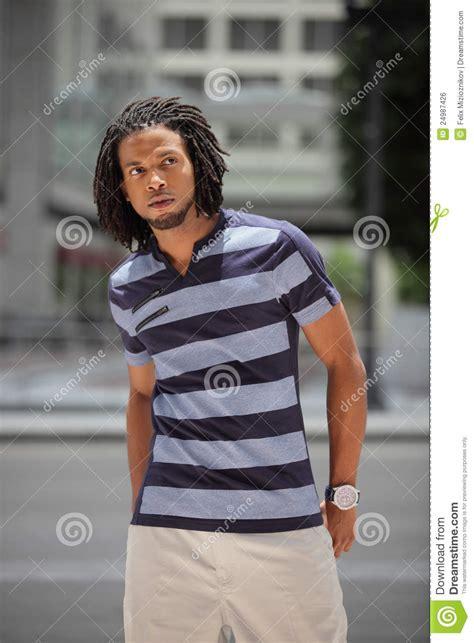 fashionable jamaican male model stock photo image