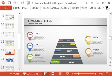 animated timeline generator template  powerpoint