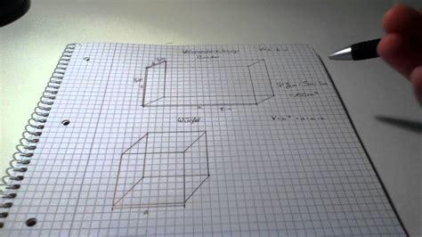 volumen eines quaders und eines wuerfels berechnen mathe