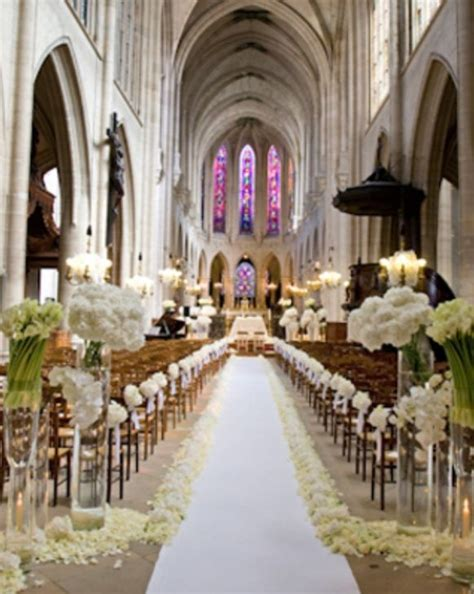 wedding decorations for ceremony in church stylish white weddings weddings romantique ceremony