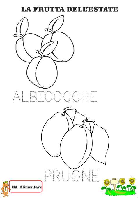 immagini  frutta da colorare