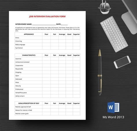 hr evaluation forms interview training