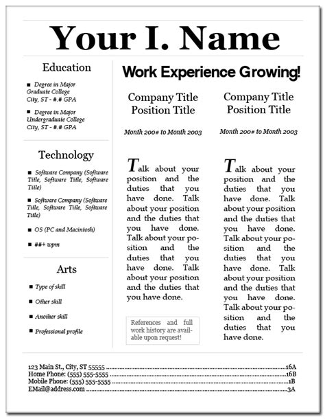 Resume Lay by Resume Layout 3 By Eriney On Deviantart