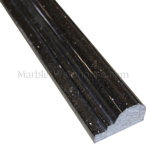 "Black Galaxy Granite Chair Rail  2 14""x12"""