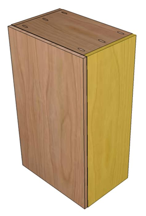 building frameless cabinets how to build frameless wall cabinets 285   EuroWallCab Step1 1SideMeasurement