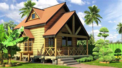 contoh desain rumah kayu minimalis elegan  indah