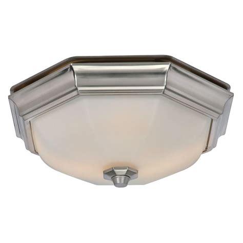 bathroom exhaust fan with light huntley decorative brushed nickel medium room size