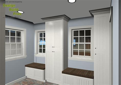 mud room addition powder room   covered porch