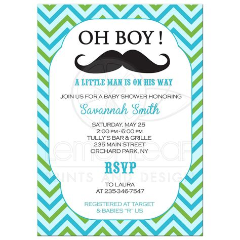 mustache baby shower invitations mustache baby shower invitation