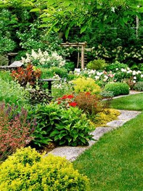 cottage side yard garden from bhg like the large wide