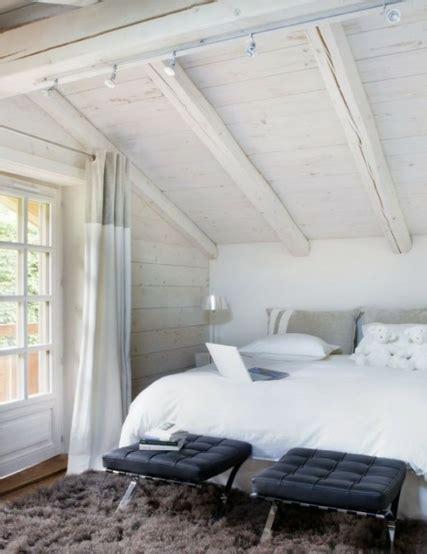 decoration chalet  chambres  coucher chalet de design