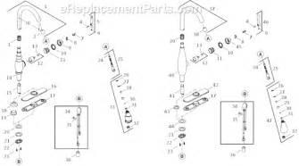 kohler kitchen faucet parts diagram kohler k 690 parts list and diagram ereplacementparts
