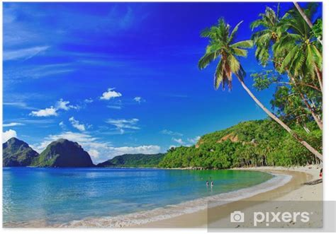 panoramic beautiful beach scenery   El nido,palawan Poster