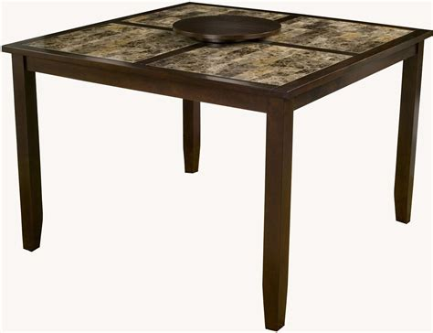 large espresso capitola espresso faux marble large pub table 554 l alpine