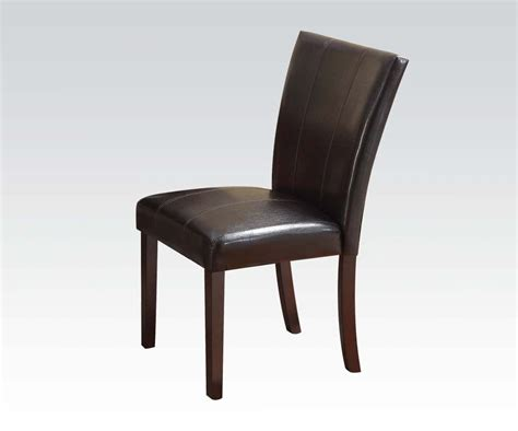 New Simple Espresso Finish Contemporary Dining Chairs 2pc