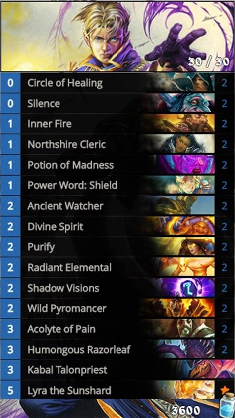 priest deck july 2017 hearthstone deck guide silence priest esports edition