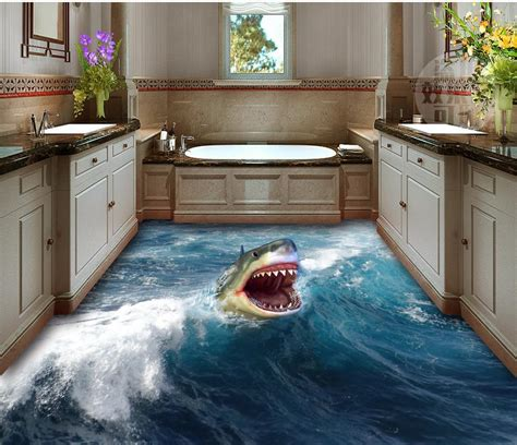 bathroom wallpaper waterproof  shark flooring home
