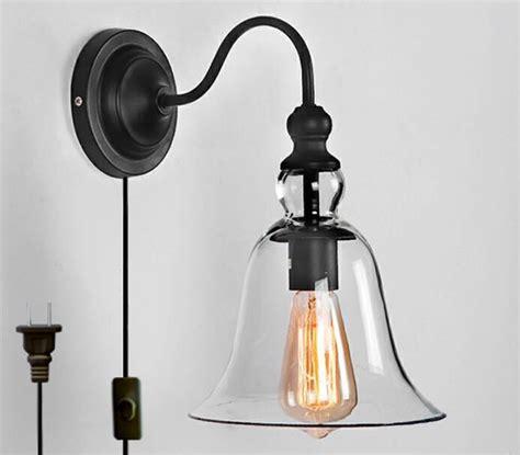 vintage iron bracket fixtures bell rustic glass indoor