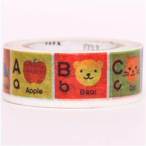mt masking alphabet a m abc alphabet a until m mt washi masking deco