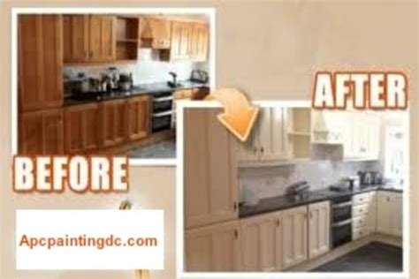 professional spray painting kitchen cabinets professional kitchen cabinet painting service apc painting 7590