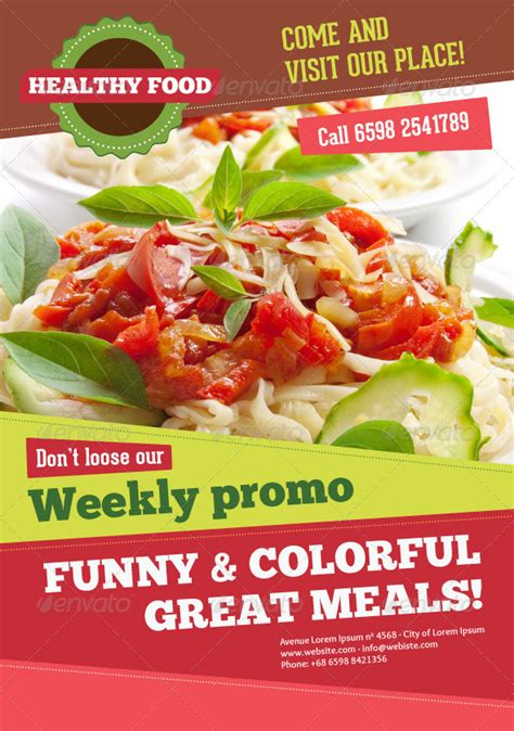 poster cuisine a4 healthy food menu poster flyer cards by