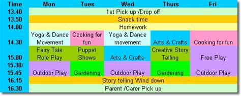 program samples ulla beag preschool childcare