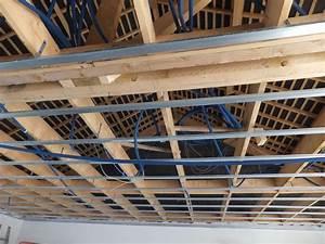 Faux Plafond Placo Sur Rail : faux plafond placo et rails ~ Melissatoandfro.com Idées de Décoration