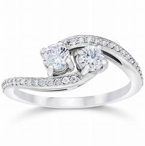 1 2 carat 2 stone forever us diamond engagement With forever wedding rings