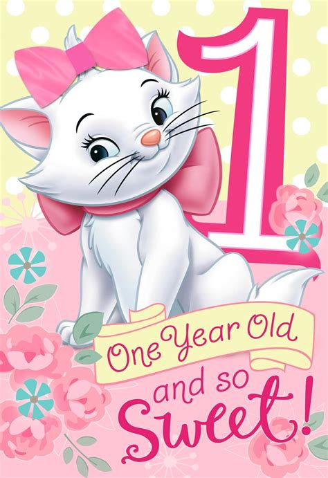 aristocats st birthday card  wearable hair bow