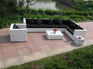Palette De Bois : best salon de jardin palette noir contemporary amazing ~ Premium-room.com Idées de Décoration