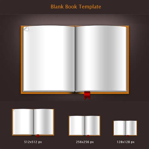Download blank book template .PSD file & icons - GraphicsFuel