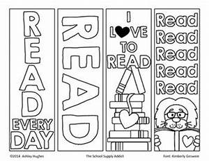 here are some fun color your own bookmarks just color With world book day bookmark template