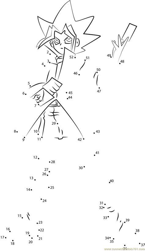 yu gi  standing dot  dot printable worksheet connect
