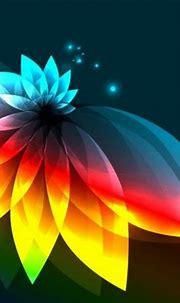 Illuminated Lotus Flower Abstract Vector Background ...