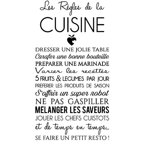 citation cuisine humour sticker citation les règles de la cuisine stickers