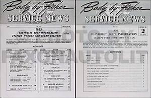 1956 Chevy Station Wagon Body Repair Manual Set 150 210 Bel Air Chevrolet 56