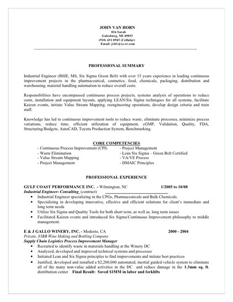 master resume for candidate horn