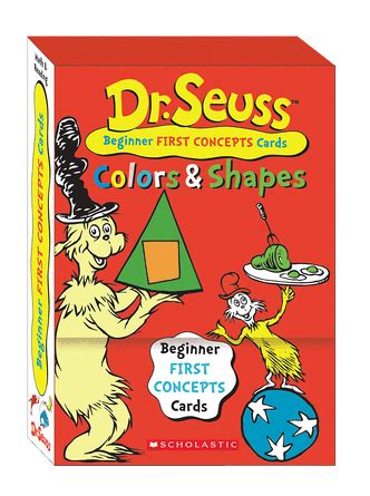 dr seuss learning cards colors  shapes  scholastic
