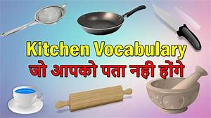 Common Kitchen Utensils Vocabulary Household Use Things