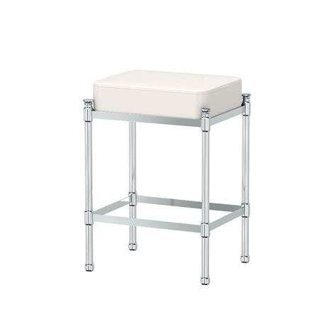 chrome vanity stool gatco vanity seating bathroom