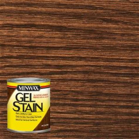 Gel Stain Cabinets Home Depot by Minwax 1 Qt Hickory Gel Stain 66100 The Home Depot