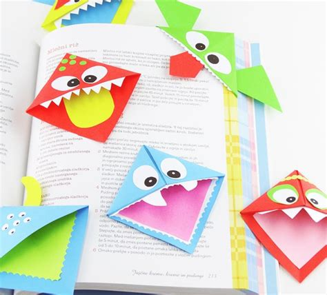 origami paper crafts for 215 | origami corner bookmarks easy peasy and fun
