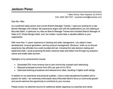 cover letter  management trainee
