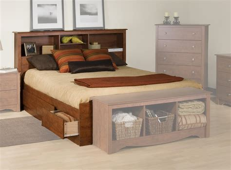prepac platform storage bed  bookcase headboard  oj